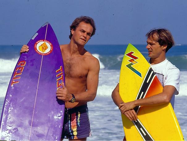 Companheiros de Surfe, Juba e Lula eram sócios da Armação Ilimitada (Foto: TV Globo / CEDOC)