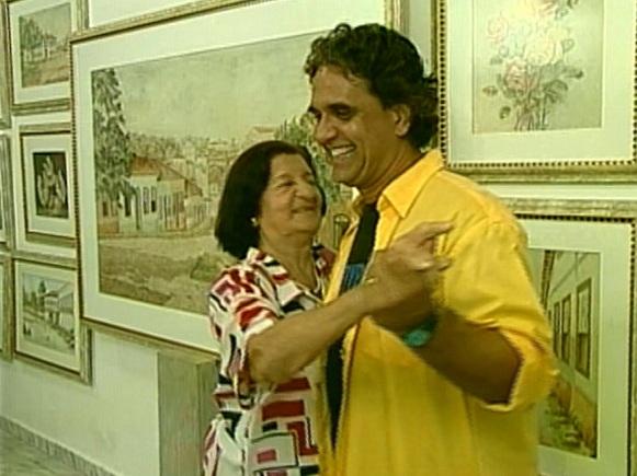 Marcelo Barra e Goiandira (Foto: TV Anhanguera - GO)