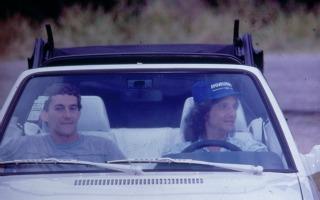 Robero Carlos e Ayrton Senna (Foto: TV Globo/ CEDOC)