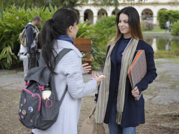 Sthefany Brito grava com Marjorie Estiano (Foto: TV Globo / Renato Rocha Miranda)