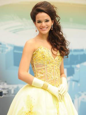 Belezinha participa de concurso de Miss (Foto: TV Globo / João Miguel Junior)