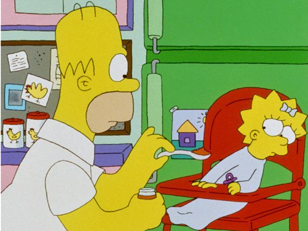 Homer precisa cuidar de Maggie na ausência de Marge (Foto: Divulgação/Fox)