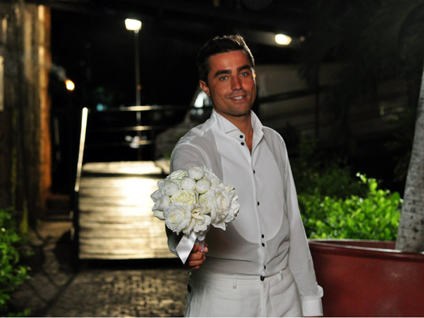 Ricardo Pereira grava cena em Cartagena (Foto: TV Globo / Estevam Avellar)