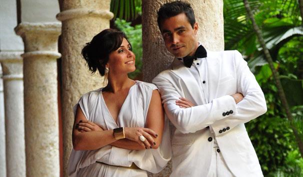Giovanna Antonelli e Ricardo Pereira gravaram cenas de Cláudia e Vicente em Cartagena (Foto: Estevam Avellar/ TV Globo)