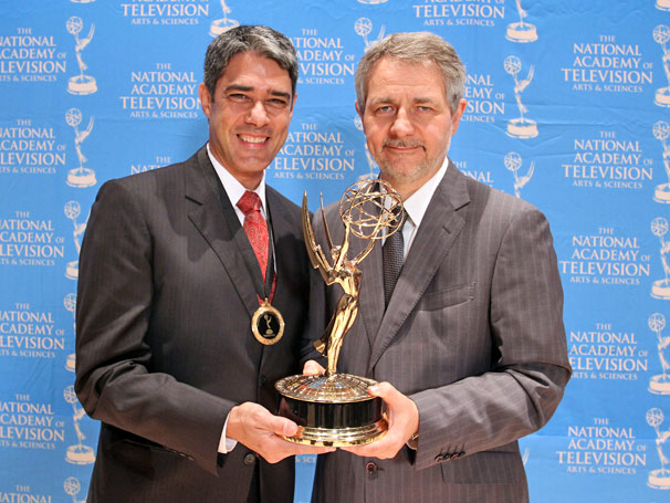 William Bonner e Carlos Henrique Schroder  (Foto: TV GLOBO / Luiz C Ribeiro)