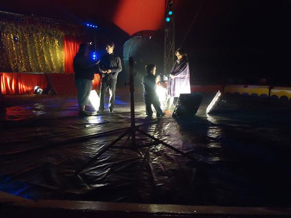Gravações de Três Feras e uma Bela (Foto: Divulgação/RPC TV)