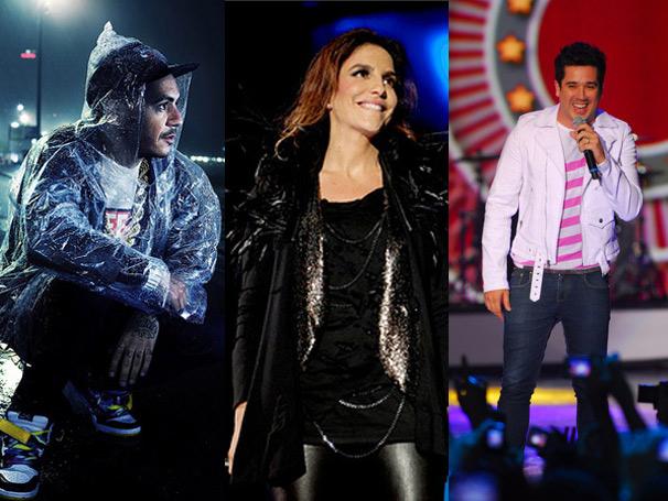 Marcelo D2, Ivete Sangalo e Jota Quest se apresentam hoje no Palco Mundo (Foto: Divulgação)