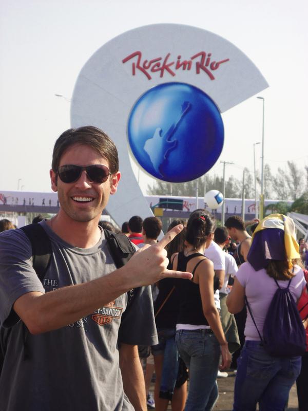 Luiz Guilherme conferiu a primeira noite do Rock in Rio (Foto: Acervo Pessoal)