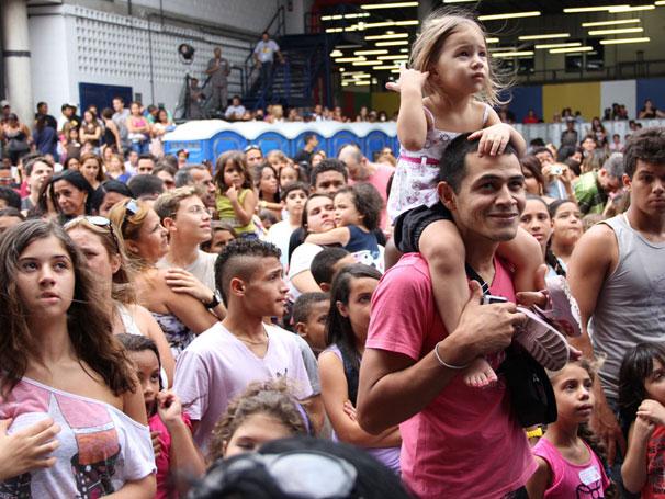 Evento reuniu funcionários e familiares no Projac (Foto: TV Globo / Camila Crespo)