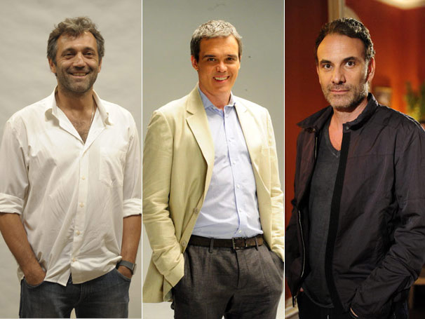 Domingos Montagner, Dalton Vigh e Marco Ricca lembram fase como professores (Foto: TV Globo / Renato Rocha Miranda / João Miguel Júnior )