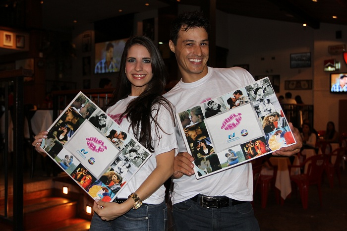 Ação de divulgação em bares de Goiânia (Foto: TV Anhanguera - GO)