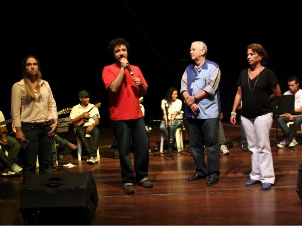 Criança Esperança Ensaio de músicos no Cantagalo (Foto: Stéphanie Saramago)