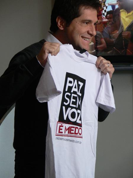 Daniel apoia a campanha Paz Sem Voz é Medo (Foto: Luciana Vassoler)