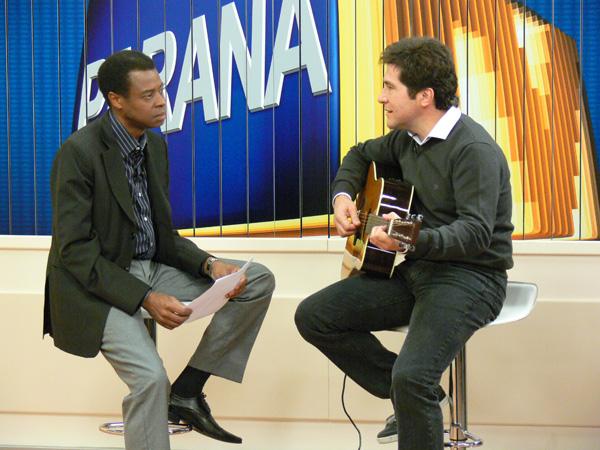 Daniel em entrevista ao PRTV 1ª Edição (Foto: Luciana Vassoler)