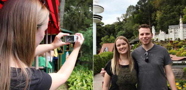"""O casal também conheceu o """"mini-mundo"""" (Foto: Lorena Simões / Divulgação TV Globo)"""
