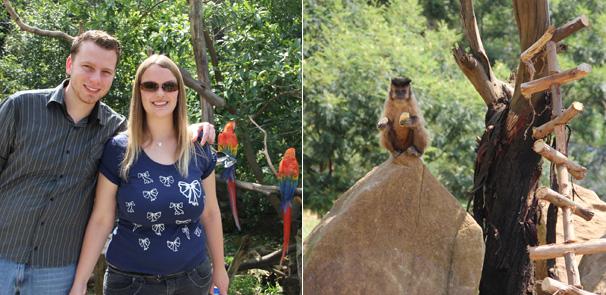 Os dois ainda puderam ficar pertinho dos animais no Gramazoo (Foto: Lorena Simões / Divulgação TV Globo)