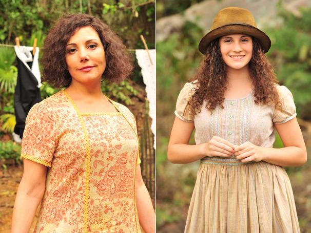 Heloisa Périssé grava com a filha as primeiras cenas de Dercy (Foto: TV Globo / João Miguel Júnior)