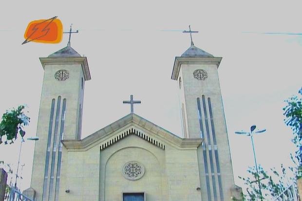 Igreja do bairro de Aparecida (Foto: Zappeando)