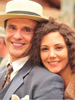Heloisa Périssé e Fernando Eiras são casal em minissérie (Foto: TV Globo / João Miguel Júnior)