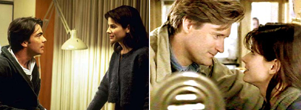 Lucy (Sandra Bullock) fica dividida entre dois irmão no filme desta tarde (Foto: Divulgação)