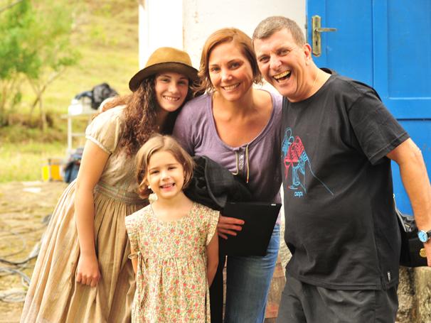 Heloisa Périssé e Jorge Fernando gravaram em Santa Maria Madalena (Foto: TV Globo / João Miguel Júnior)