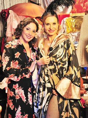 Heloisa Périssé e Paula Burlamaqui gravam juntas para minissérie (Foto: TV Globo/João Miguel Júnior)