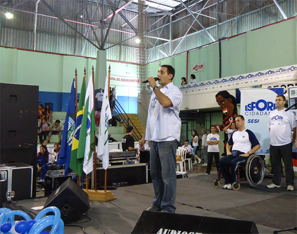 Coordenador do evento fala da importancia do esporte (Foto: Divulgação/RPC TV)