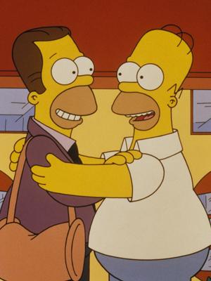 Homer recebe a visita do irmão (Foto: Twentieth Century Fox / Divulgação)
