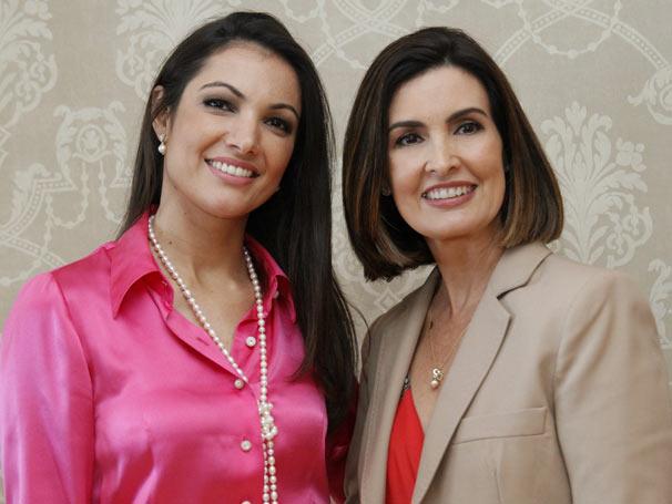 Fátima Bernardes e Patrícia Poeta (Foto: TV Globo/ Alex Carvalho )