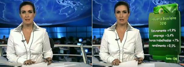 Camisa branca com gola dupla fátima bernardes (Foto: Reproduçaõ/ TV Globo)
