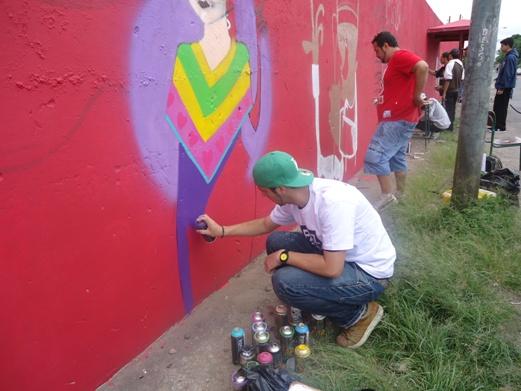 Oficina de grafite (Foto: Divulgação/RPC TV)