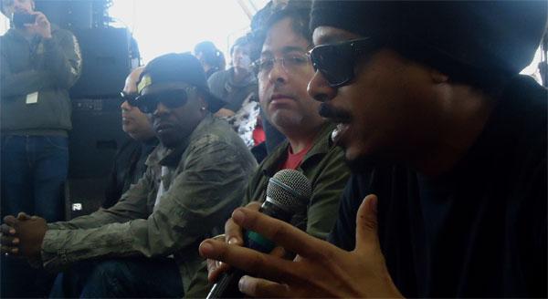 O Rappa participa de ação da campanha Paz Sem Voz é Medo (Foto: Divulgação/RPC TV)