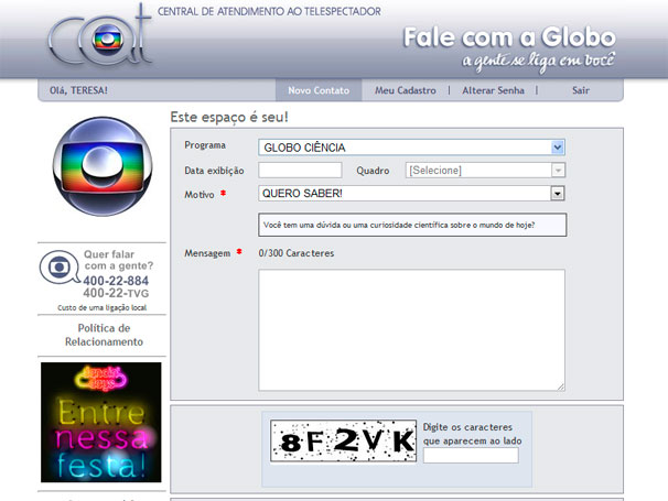 Globo Ciência - Quero saber! (Foto: Reprodução)