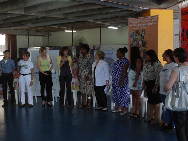 Michele Bachelet visita o Espaço Criança Esperança do Rio de Janeiro (Foto: Divulgação)