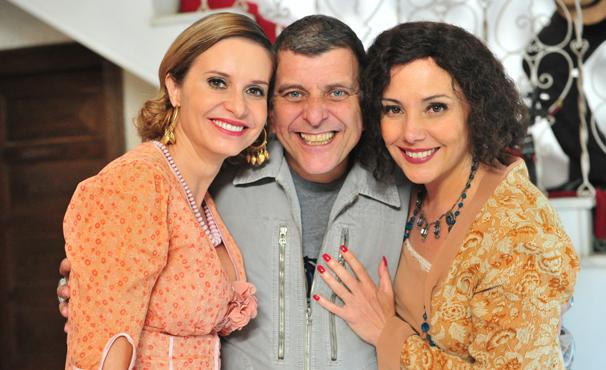 Paula Burlamaqui, Jorge Fernando e Heloísa Périssé em minissérie (Foto: TV Globo / João Miguel Júnior)