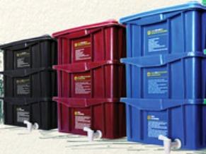 Sistema de armazenamento para compostagem (Foto: Divulgação)