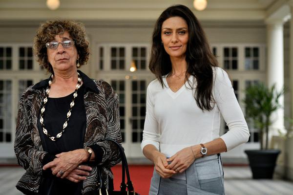 Antonia (Maria Fernanda Cândido) e Julieta (Maria do Carmos Soares) (Foto: João Cotta/TV Globo)