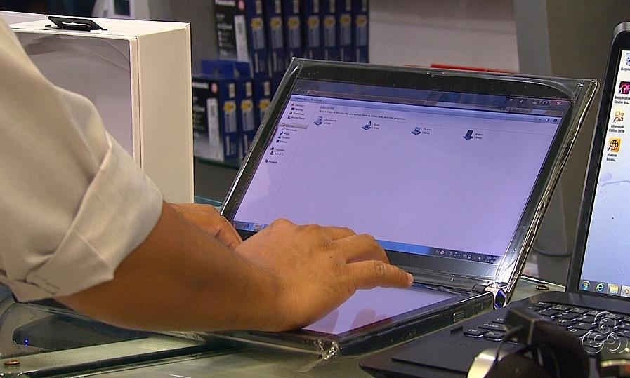 Os netbooks estão entre os mais procurados (Foto: Jornal do Amazonas)