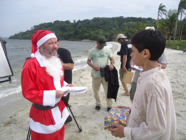 Gravações de A Mensagem na Ilha das Cobras (Foto: Divulgação/RPC TV)
