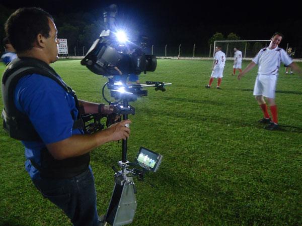 Gravações da chamada do Campeonato Paranaense (Foto: Divulgação/RPC TV)