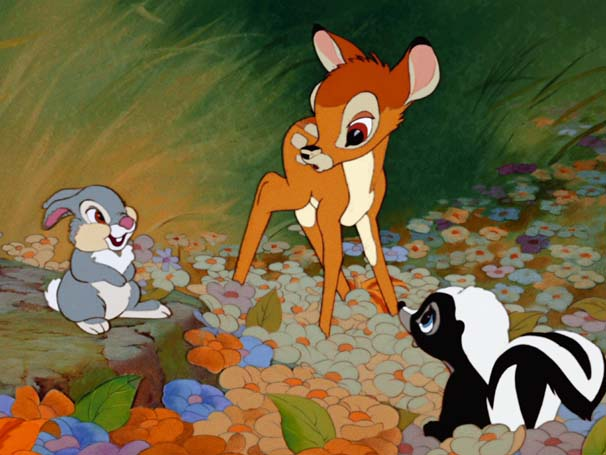 Bambi faz muitos amigos na floresta  (Foto: Divulgação / Disney)