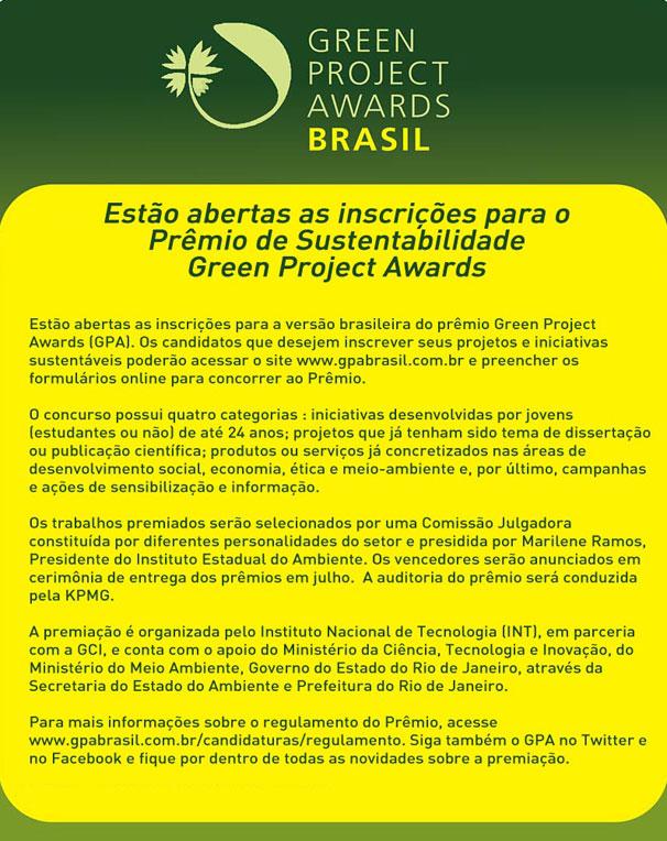 Green Project Awards (Foto: Divulgação)