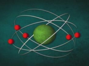 Modelo atômico (Foto: Reprodução de TV)