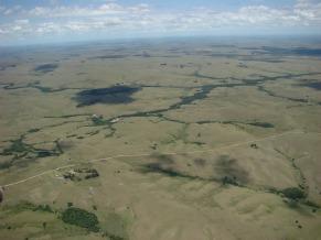 Uma imagem do alto do Pampa, segundo menor bioma do Brasil (Foto: Divulgação / Eduardo Vélez)