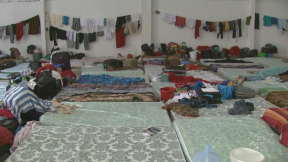 Haitianos recebem abrigo e têm possibilidade de recomeçar a vida (Foto: Jornal do Amazonas)