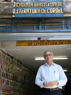 Gonçalo Ferreira da Silva, presidente da Academia Brasileira de Literatura de Cordel (ABLC) (Foto: Christina Fuscaldo)