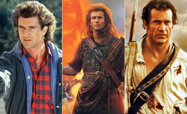Confira os vários looks de Mel Gibson no cinema (Foto: Divulgação)