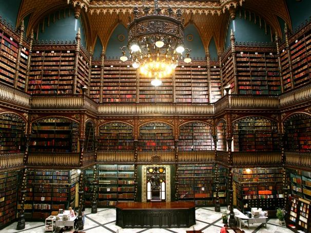 Salão do Real Gabinete Português de Leitura (Foto: Edu Mendes)