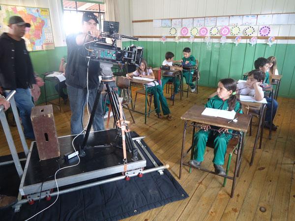 Gravações de O Tamanho do Mundo em Tijucas do Sul (Foto: Divulgação/RPC TV)
