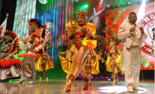 Aline de Oliveira é a musa da Mocidade Alegre, de SP (Foto: TV Globo / Zé Paulo Cardeal)